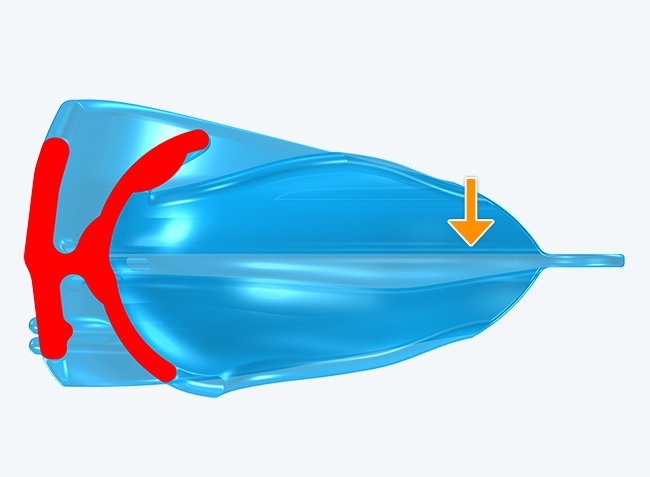 Aerofoil shaped base